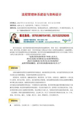 刘新华:流程管理体系建设与架构设计.doc