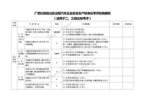 广西壮族自治区出租汽车企业安全生产标准化考评实施细则.doc