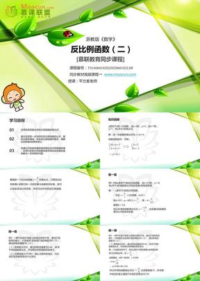 浙教版数学八年级下第六章6.1.2反比例函数(2).ppt