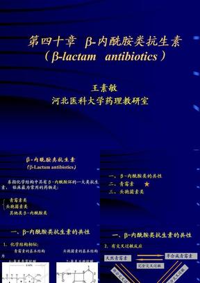 β-内酰胺类抗生素.ppt