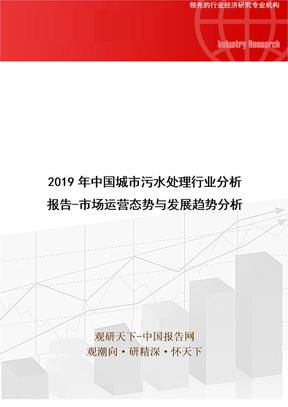 2019年中国城市污水处理行业分析报告-市场运营态势与发展趋势分析.doc