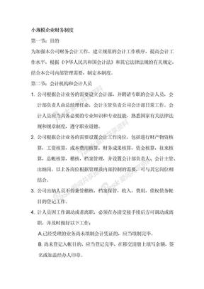小规模企业财务制度.docx