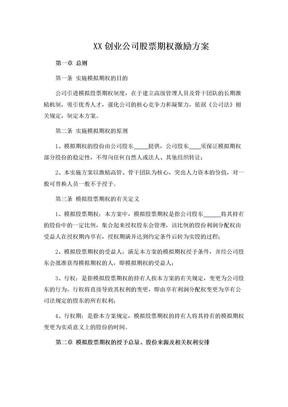 创业公司股权期权激励方案.doc.doc