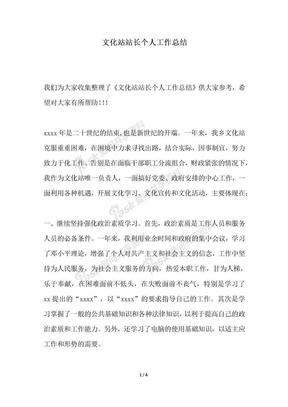 2018年文化站站长个人工作总结.docx