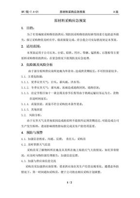 原材料采购应急预案制度.doc