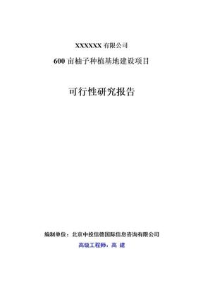 600亩柚子种植基地建设项目可行性研究报告.doc