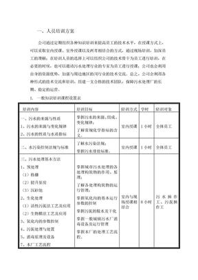 污水处理厂培训方案.doc.doc