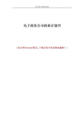 电子商务公司商业计划书1.doc
