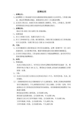影视广告公司薪酬福利制度.docx