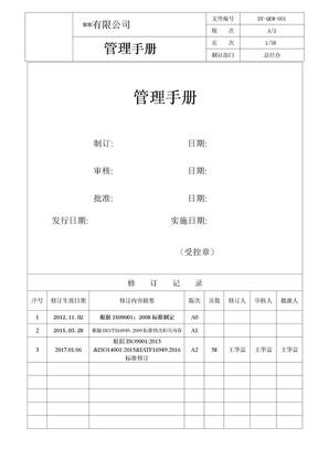 IATF16949管理手册.doc
