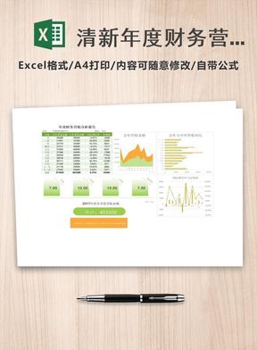 清新年度财务营收分析报告excel模板.xlsx