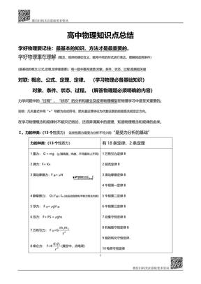 高中物理知识点总结(119页干货资料).pdf