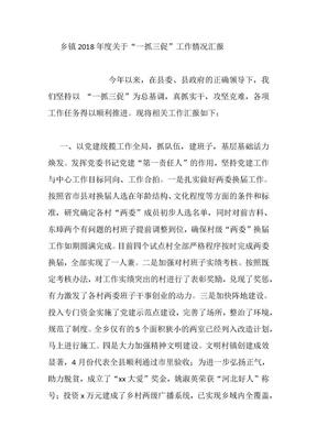 """乡镇2018年度关于""""一抓三促""""工作情况汇报.docx"""