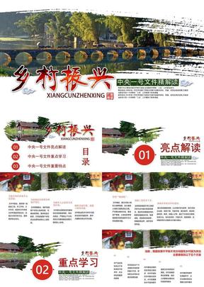 解读中央一号文件乡村振兴战略PPT模板.pptx