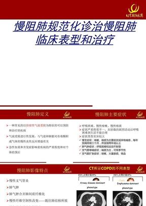 慢阻肺规范化诊治慢阻肺临床表型和治疗.ppt.ppt