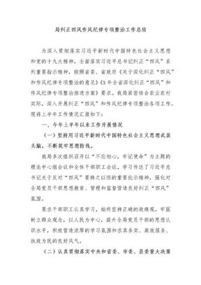 局纠正四风作风纪律专项整治工作总结.docx