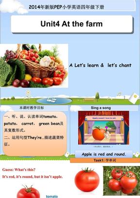 【新人教版小学英语四年级下册ppt课件】Unit4 A Let's learn.ppt