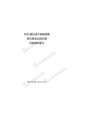 浙江嘉丰股权投资集合项目(尽调报告)(完整版).docx