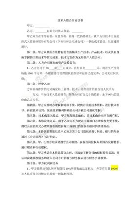 技术入股合作协议.docx