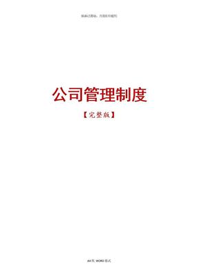 公司管理制度【完整版】.doc