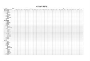 项目费用预算表.xls