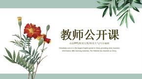 清新淡雅教师公开课说课课件PPT模板.pptx