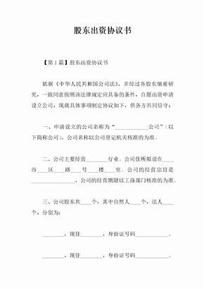 股东出资协议书-1.docx