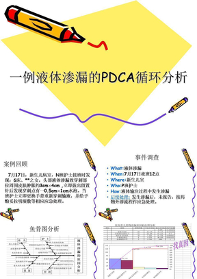 新生儿室1例液体渗漏的PDCA循环分析.ppt.ppt
