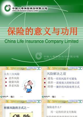 保险意义与功用5(PPT模板).ppt