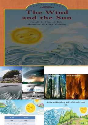 二年级上英语课件-The sun and the wind清华版.ppt