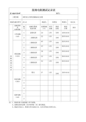接地电阻测试记录表.doc