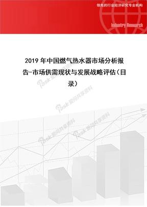 2019年中国燃气热水器市场分析报告-市场供需现状与发展战略评估.doc