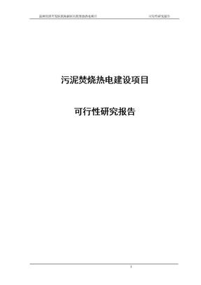 污泥焚烧热电建设的项目可行性研究报告.doc