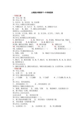 人教版小学数学课本1至6年级的目录.doc.doc