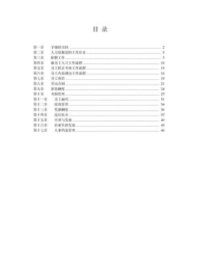 集团公司人力资源管理手册(全套).doc
