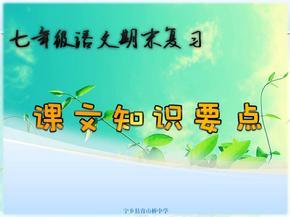 2013年最新人教版七年级上册语文课文知识复习.ppt