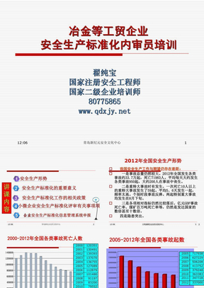 安全生产标准化建设(内审员培训)..ppt