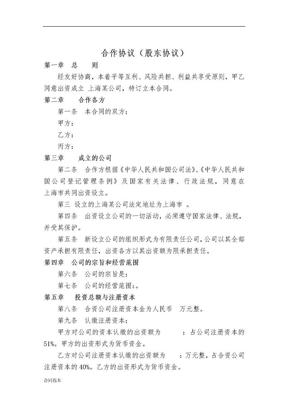 股东协议.doc