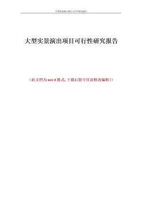 大型实景演出项目的可行性研究报告1.doc