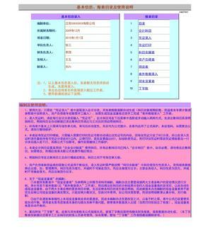 Excel财务报表模板(转载超级实用).xls