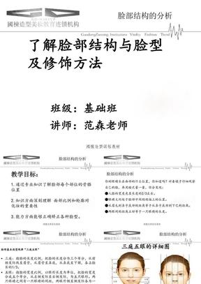 义乌国栋化妆美甲培训学校.脸部结构的分析与皮肤特征及护理.ppt