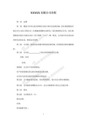 2018年有限公司法人独资私营公司章程.doc