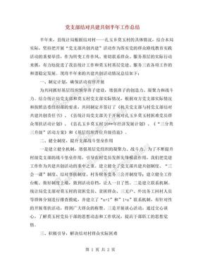 党支部结对共建共创半年工作总结.doc