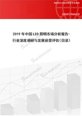 2019年中国LED照明市场分析报告-行业深度调研与发展前景评估.doc
