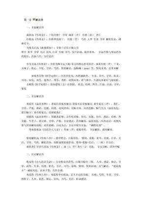 方剂趣味记忆全集(考研、职称专用).doc
