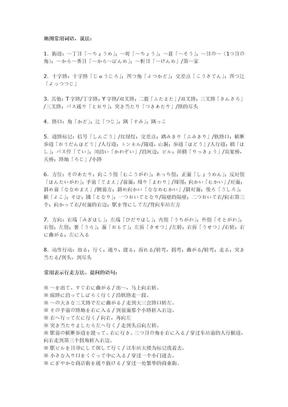 自己收集的日语听力常用词汇.doc