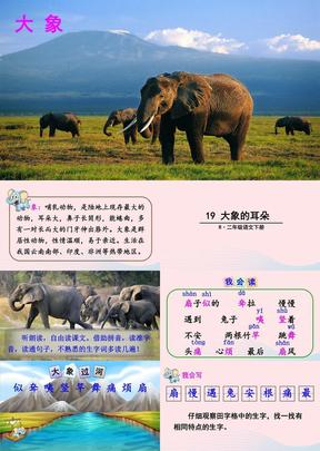 2019二年级语文下册课文619《大象的耳朵》教学课件2新人教版.ppt