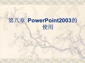 (新)第八章PowerPoint2003的使用.ppt