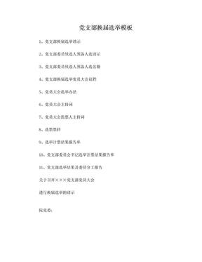 党支部换届选举材料模板.doc