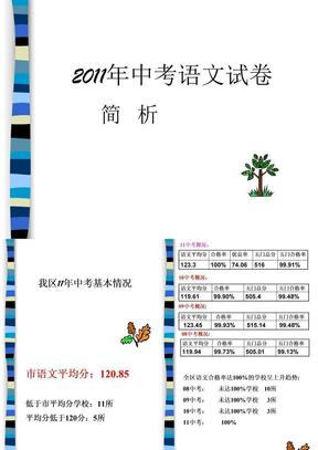 11中考试卷简析.ppt